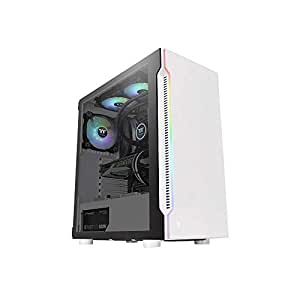 Thermaltake H200 Tempered Glass Snow RGB Mid-Tower Chassis, CA-1M3-00M6WN-00
