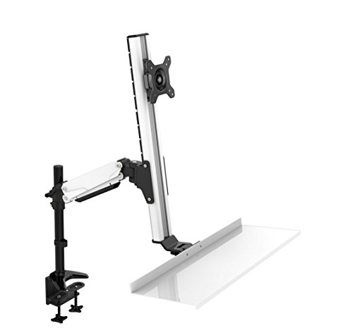 Rocelco - Ergonomic Adjustable Height Sit Stand Desk Moun...