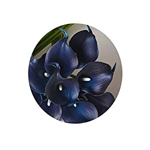 Lucky-fairy Artificial-Flowersnavy Blue Picasso Calla Lilies Real Touch Flowers for Wedding Bouquets Centerpieces Artificial Flowers for Wedding,Navy 12