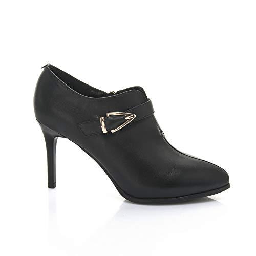 Black Yukun Alto Talones Versátiles De zapatos de PU alto Tacón De Fina Tacón Moda De tacón Aguja Cómoda qOHxqTUwr