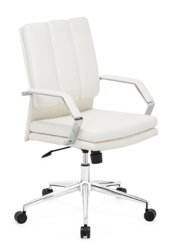 [Zuo Modern Director Pro Office Chair, White] (Director Office Chair)