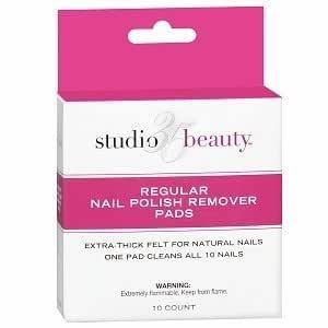 Amazon Com Studio 35 Beauty Regular Nail Polish Remover Pads 10 Ea Beauty