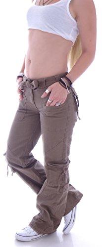 Jeans station Style Donna Cargo Marrone Z8x5UTwaq