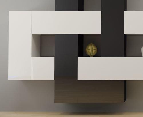 Naka24 Hochwertige Wohnwand Schrankwand Briks Verschiedene