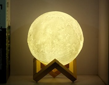 - Night Light LED 3D Printing Moon Lamp, Touch Control LED Moon Table Light Warm and Cool White Dimmable USB Charging Lunar Diameter 7.1 inch with Stand for Valentine's Day by TiTa-Dong