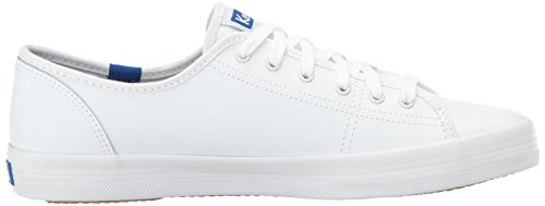 Keds Damen Kickstart Lea. White/Blue Sneaker Weiß (White)
