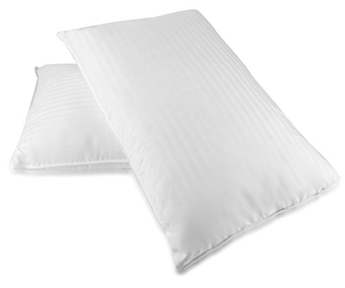 Set of 2, Luxury Goose Feather and Down Bed pillows (King)