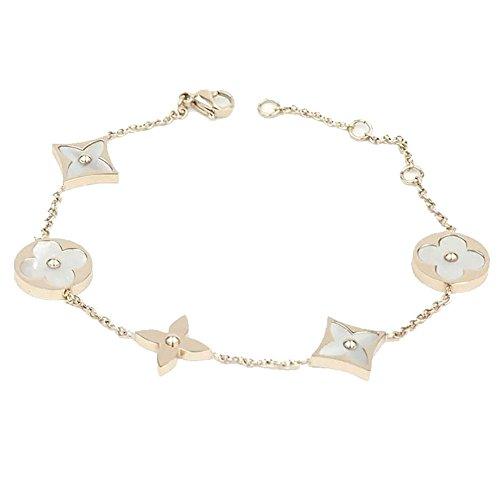 Jewelry Cartier Inspired (Baoliren Rose Gold Titanium White Shell Clover Women's Chain Bracelet)