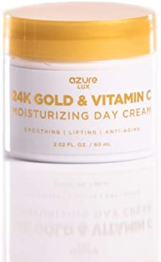 69380a80380 Amazon.com: 24K Gold & Vitamin C Luxury Moisturizing Day Cream - Smooths    Anti Aging   Lifts Skin Reducing Appearance Of Wrinkles and Fine Lines -  60mL: ...