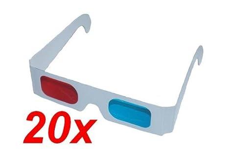 qualità eccellente carino economico meglio 20 occhiali 3D anaglifi, colore: rosso/ciano: Amazon.it: Elettronica