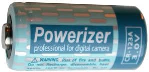 CR123A 3 Volt Powerizer Lithium Battery CR17345