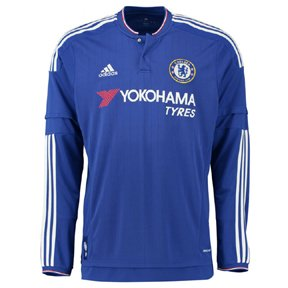 adidas Chelsea FC Home Long Sleeve Jersey-CHEBLU (S)