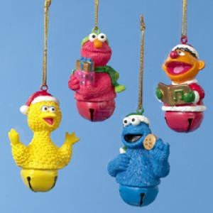 Resin Sesame Street Jingle Bell Ornament Set Of 4