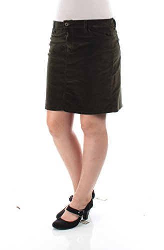 Tommy Hilfiger Forest Womens Corduroy Mini Skirt Green (Forest Green Corduroy)