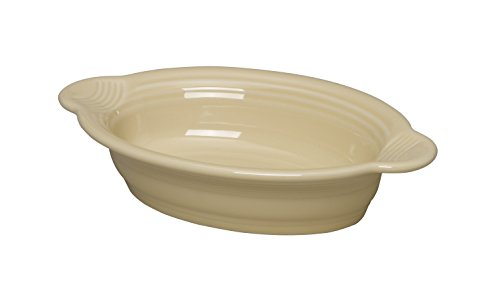 Fiesta 9 Inch by 5 Inch Individual Oval Casserole, Ivory