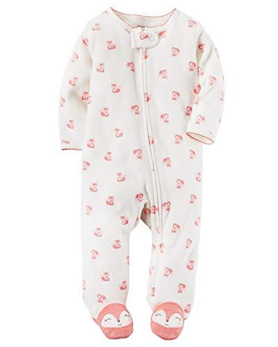 (Carter's Baby Girls' Mouse Zip-Up Terry Sleep & Play, Newborn Pink)