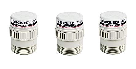 3 Studor 20349 REDI-Vent Air Admittance Valve 1-1//2 or 2 ABS Adapter White