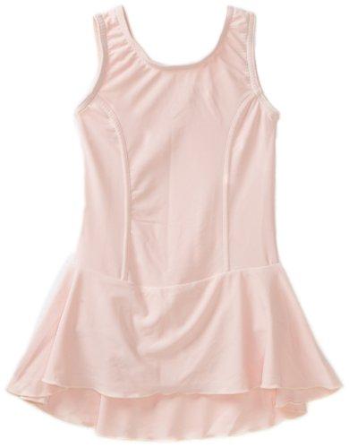 (Sansha Big Girls' Fiona Leotard Tank w/ Skirt, Pale Pink ,Xlarge(G)/12-14)