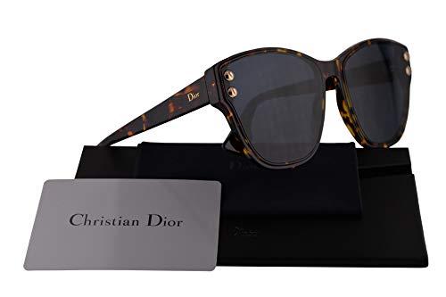 Christian Dior DiorAddict 3 Sunglasses Brown Yellow Havana w/Blue Mirror Gold Gradient Lens 60mm P65A9 Dior Addict 3 DiorAddict3 Christian Dior Brown Havana Sunglasses