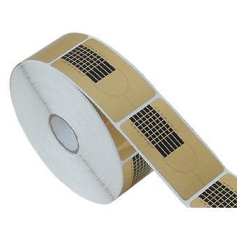 New Nail Art 500 Modellierschablonen Gold Modellier Schablonen zur Nagel Verlängerung, Nagel Design Zubehör Maniküre Tips Test Paket Probe