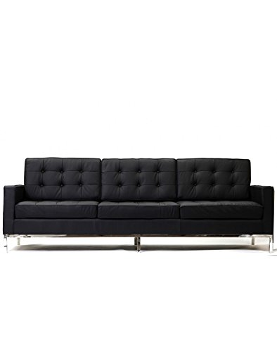 Loft Leather Sofa in Black