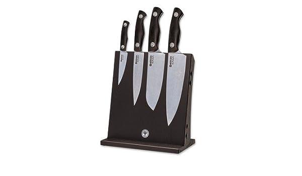 Böker Cuchillo de Cocina Saga granadillo Set, 130367set: Amazon.es: Deportes y aire libre