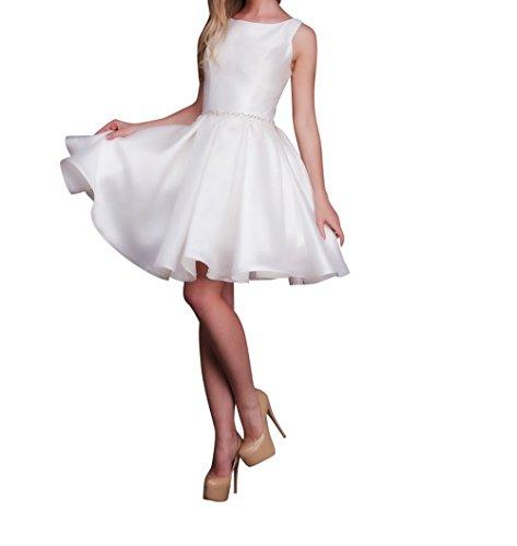 La_Marie Braut Anmutig Cocktailkleider Partykleider Tanzenkleider  Festlichkleider Etui Rock Mini Kurz Weiß DxAhrvLhvH