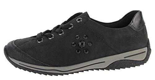 Rieker Nablus Waveletlack Schuhe Damen Antistress Freizeit