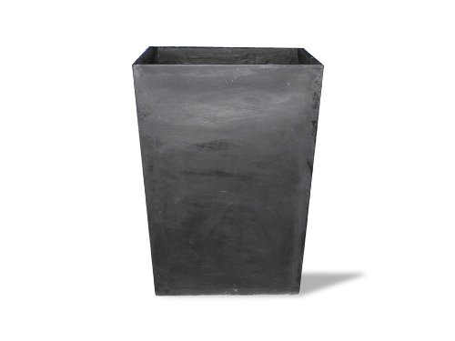 Containers Garden Planters Urns (Amedeo Design 2513-53B ResinStone Corner Tapered Planter, 16 by 16 by 39-Inch, Black)
