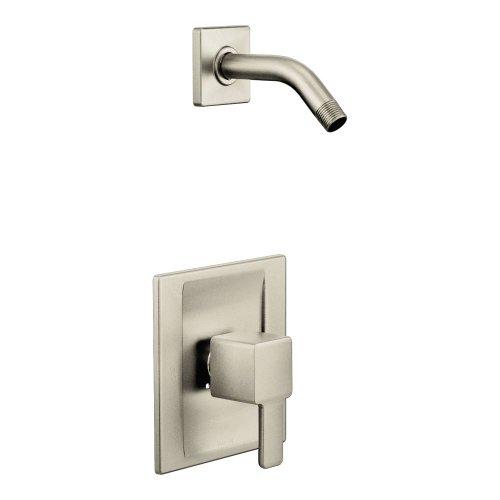 Moen TS2712NHBN Single Handle Shower Trim Kit, Brushed Nickel (Moen Handle Toilet Nickel)