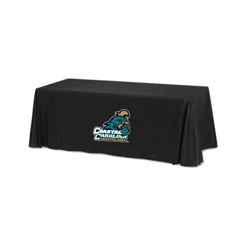 Coastal Carolina Black 6 foot Table Throw 'Official Logo' by CollegeFanGear