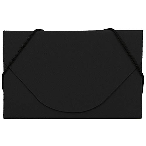 JAM PAPER Ecoboard Business Card Holder Case with Round Flap - Black Kraft - Sold Individually