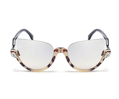 Heartisan Personality Cat Eye Color Filter Plastic Frames UV400 Protection - Shell Blue Tortoise And Bans Ray