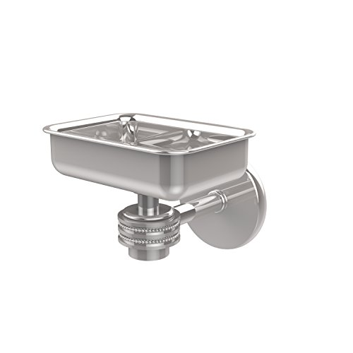 - Allied Brass 7132D-PC Satellite Orbit One Wall Mounted Soap Dish with Dotted Accents, Polished Chrome