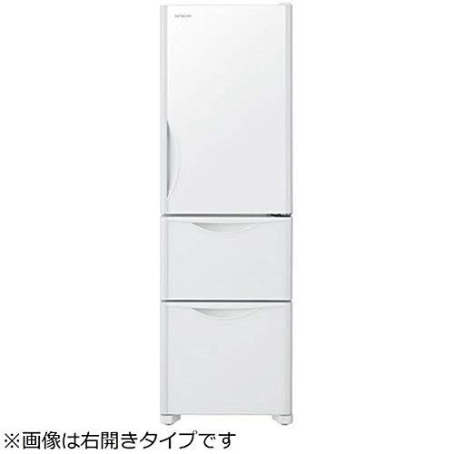 日立 315L 3ドア冷蔵庫(クリスタルホワイト)【左開き】HITACHI R-S32JVL-XW   B07CV71XCP