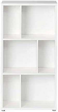 Tvilum Twist 46 Bookcase, Tall, White
