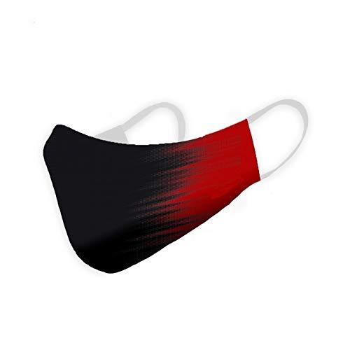 adulto//junior//mujer Cubrebocas higi/énico homologado negro 3 capas Roja y negra 14x19 cm
