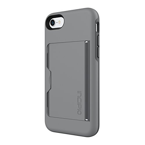 Incipio Stowaway iPhone 8 & iPhone 7 Case with Credit Card Slot Holder and Integrated Stand for iPhone 8 & iPhone 7 - Gray/Charcoal