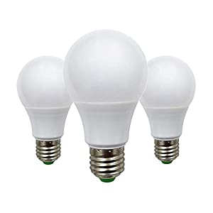 5W E27 Edison Screw LED Light Bulb 50W Equivalent A60 ES Globe Lamp, E26 E27 Base 12v Low Voltage – Great for Off Grid…