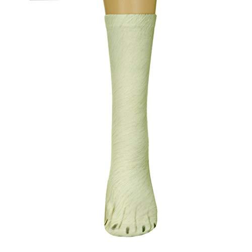 Unisex Funky Socks Hosamtel Animal Paw 3D Printing Sublimated All Over Crew Socks for Man Women Girl Boy (Polar Bear) - Bear Printing