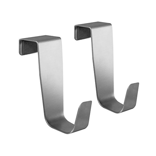 YouCopia Over The Cabinet Door Single Hook, Set of 2, Stainless Steel