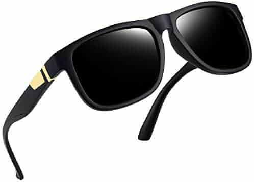 49d12f4949c Unisex Polarized Sunglasses Men Women Square Frame Sun Glasses 100% UV  Protection (Matte Black