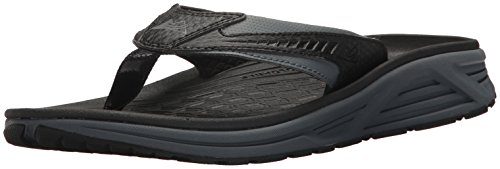 Columbia Men's Molokai III Sandal, High-Traction Grip, Shock Absorbent, Black, Graphite, 7 D US ()