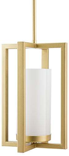 Cheap Verona Contemporary Intersecting Pendant Light – Satin Brass – Linea di Liara LL-P13-3SB