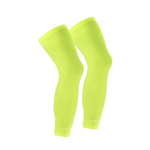 SONTHIN Compression Leg Sleeve for Men Women Youth Cycling Running Basketball Baseball Golf and More Outside Activities, 1 Pair Pack of 2 Green - Viper Sleeve