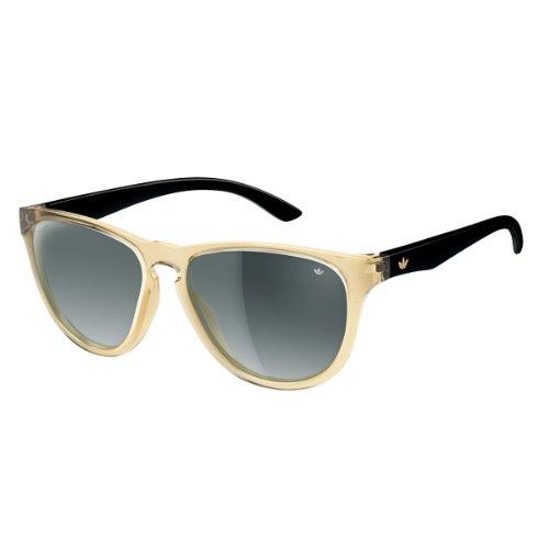 adidas San Diego Rectangular Sunglasses, Yellow/Transparent, 57 -
