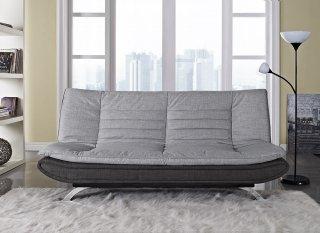 Michigan Fabric 3 Seater Sofa Bed Grey Charcoal Amazon Co Uk