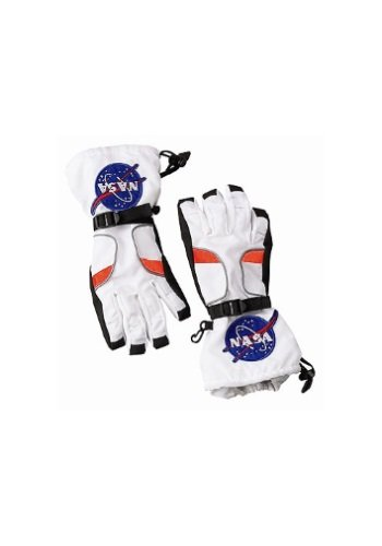 Aeromax Astronaut Gloves, size Large, White, with NASA patches]()
