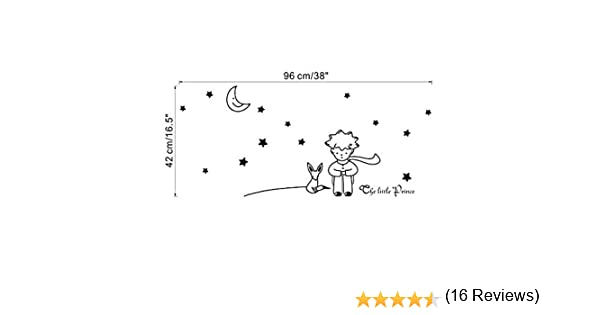 RETUROM Estrellas de la luna El Principito Boy etiqueta de la pared Decoración Adhesivos de pared BK: Amazon.es: Hogar