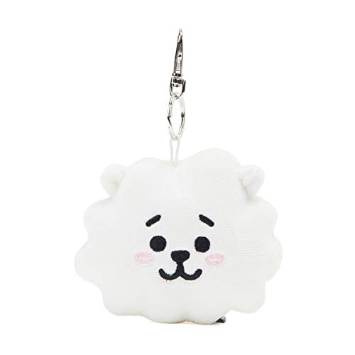 BT21 Official Merchandise by Line Friends - RJ Character Plush Doll Face Keychain Ring with Mirror Handbag Accessories